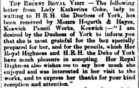 Hogarth - royal visit - 15.09.1900