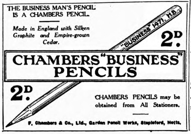 business pencils - 2nd Apr 1930