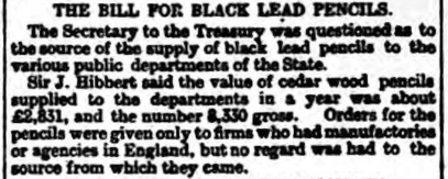 wolff - bill for blacklead - 14.03.1893