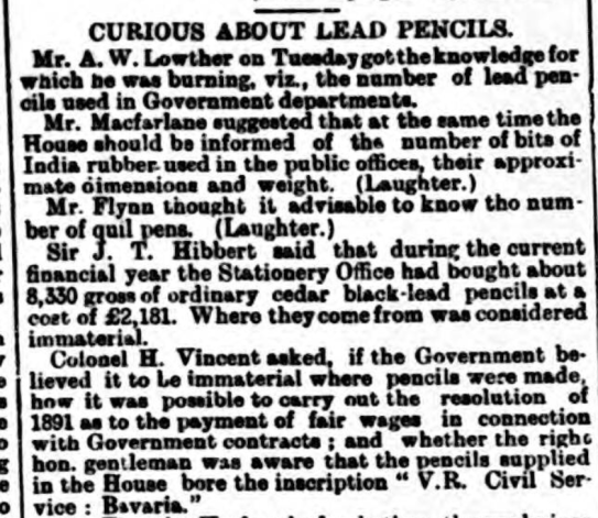 pencils - 18th Mar 1893