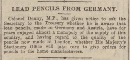 pencils - MEN. 4.11.1902